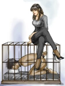 slave in bdsm cage