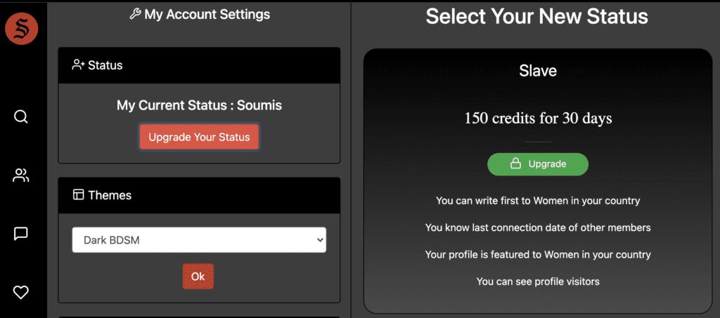 upgrade your femdom account